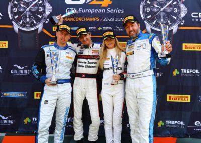 GT4 Euro-Spa2018-Podium Niki Leutwiler