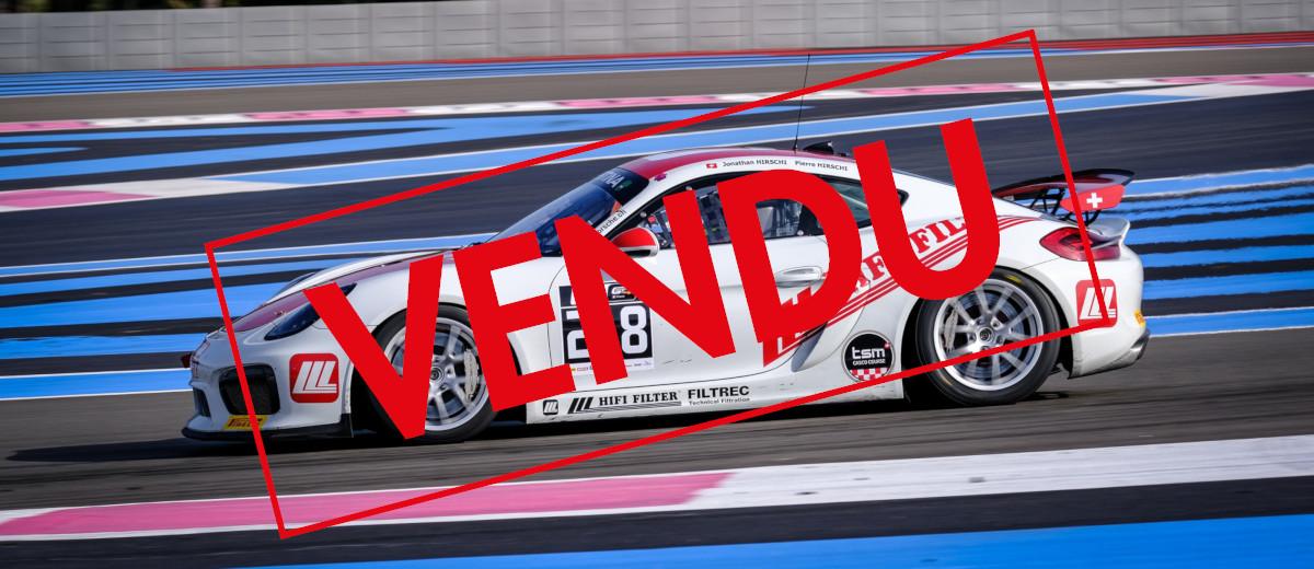 A Vendre : Porsche Cayman Clubsport MR GT4 – Hirschi